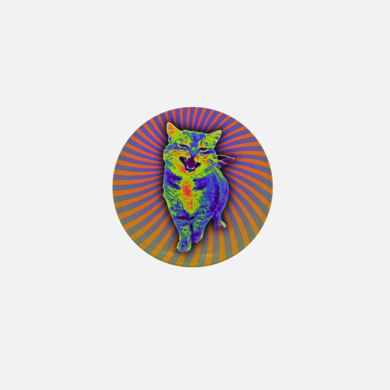 Psychedelic Kitty Mini Button (100 pack)