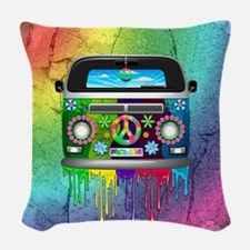 Hippie Van Dripping Rainbow Paint Woven Throw Pill