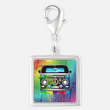 Hippie Van Dripping Rainbow Paint Charms