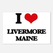 I love Livermore Maine Postcards (Package of 8)