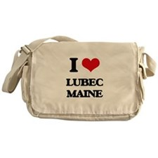 I love Lubec Maine Messenger Bag