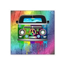 Hippie Van Dripping Rainbow Paint Sticker