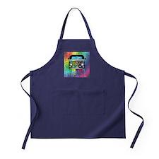 Hippie Van Dripping Rainbow Paint Apron (dark)
