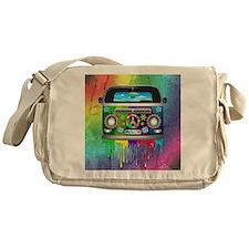 Hippie Van Dripping Rainbow Paint Messenger Bag