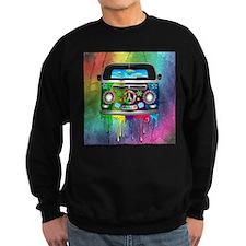 Hippie Van Dripping Rainbow Paint Sweatshirt