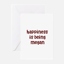 happiness is being Megan Greeting Cards (Pk of 10)