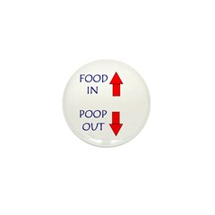FOOD IN POOP OUT Mini Button (10 pack)