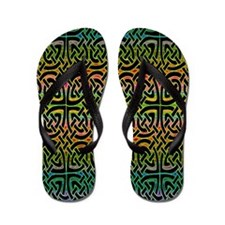 Colorful Celtic Flip Flops
