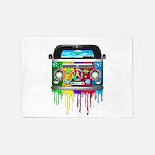 Hippie Van Dripping Rainbow Paint 5'x7'Area Rug