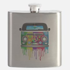 Hippie Van Dripping Rainbow Paint Flask