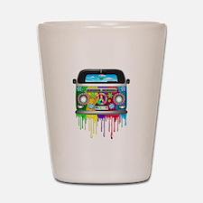 Hippie Van Dripping Rainbow Paint Shot Glass