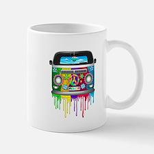Hippie Van Dripping Rainbow Paint Mugs