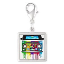 Hippie Van Dripping Rainbow Paint Charms