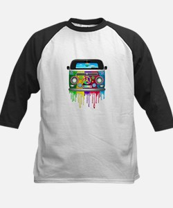 Hippie Van Dripping Rainbow Paint Baseball Jersey