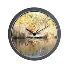 Reflections of Golden Winter Days Wall Clock