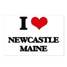 I love Newcastle Maine Postcards (Package of 8)