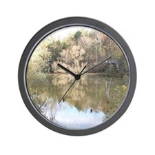 Heavenly Winter Reflections Wall Clock