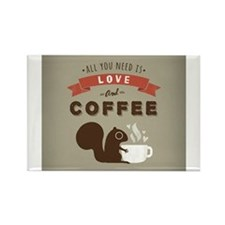 Cool Coffe Rectangle Magnet
