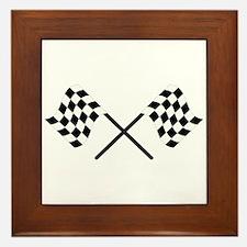 Racing Flags Framed Tile