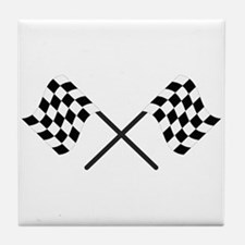 Racing Flags Tile Coaster