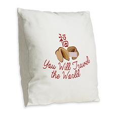 You WIll Travel Burlap Throw Pillow
