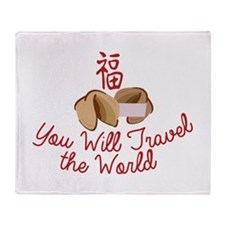 You WIll Travel Throw Blanket