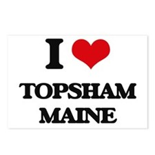 I love Topsham Maine Postcards (Package of 8)