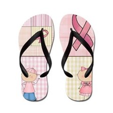 Cute Breast Cancer Awareness Flip Flops