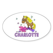 I Dream Of Ponies Charlotte Oval Decal