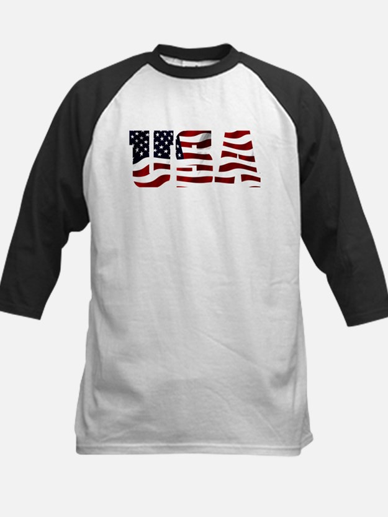 USA Flag Logo Baseball Jersey