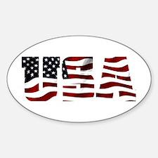 USA Flag Logo Decal