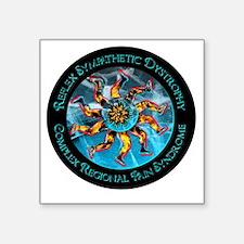 CRPS/RSD Awareness FIre & Ice legs & World Sticker
