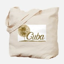 Palm Tree Cuba Tote Bag
