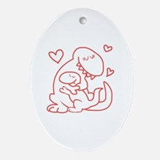 Cute Cute couples Oval Ornament