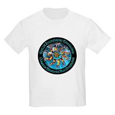CRPS/RSD Awareness FIre & Ice legs & World T-Shirt