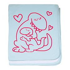 Hugging Dinos baby blanket