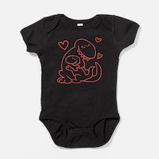 Hugging Dinos Baby Bodysuit