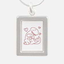 Hugging Dinos Necklaces