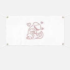 Hugging Dinos Banner