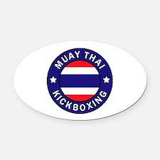 Muay Thai Oval Car Magnet