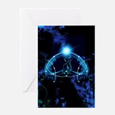Clef with awesome light effects Greeting Cards