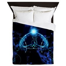 Clef with awesome light effects Queen Duvet