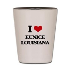 I love Eunice Louisiana Shot Glass