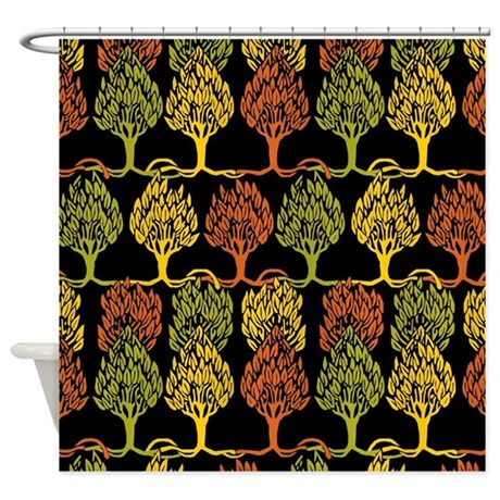 Fall Color Tree Pattern Shower Curtain By 64ColorLiving
