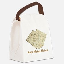 Haste Makes Matzoh Passover Canvas Lunch Bag