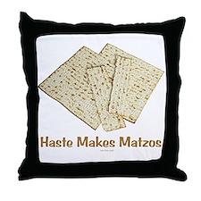 Haste Makes Matzoh Passover Throw Pillow