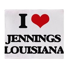 I love Jennings Louisiana Throw Blanket