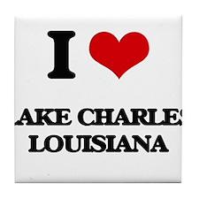 I love Lake Charles Louisiana Tile Coaster