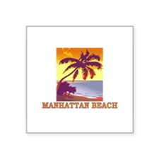 "Cute Manhattan beach Square Sticker 3"" x 3"""