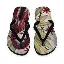 Scarlet Fairy Fantasy Art Flip Flops